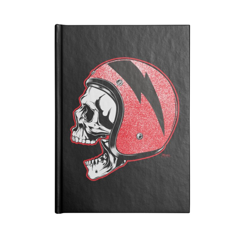 Helmet Skull Accessories Notebook by EngineHouse13's Artist Shop