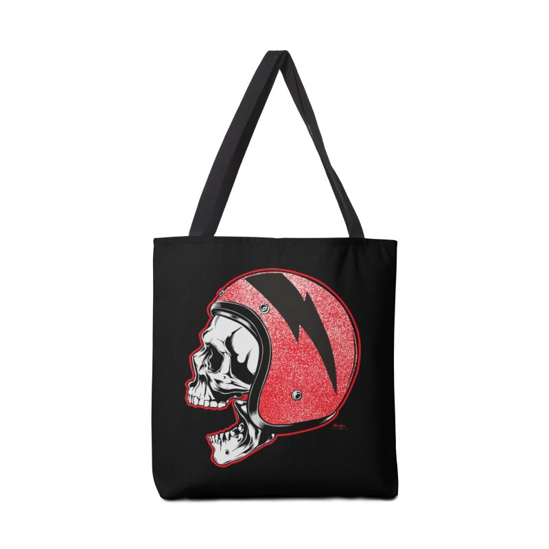 Helmet Skull Accessories Tote Bag Bag by EngineHouse13's Artist Shop