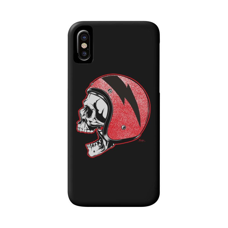 Helmet Skull Accessories Phone Case by EngineHouse13's Artist Shop