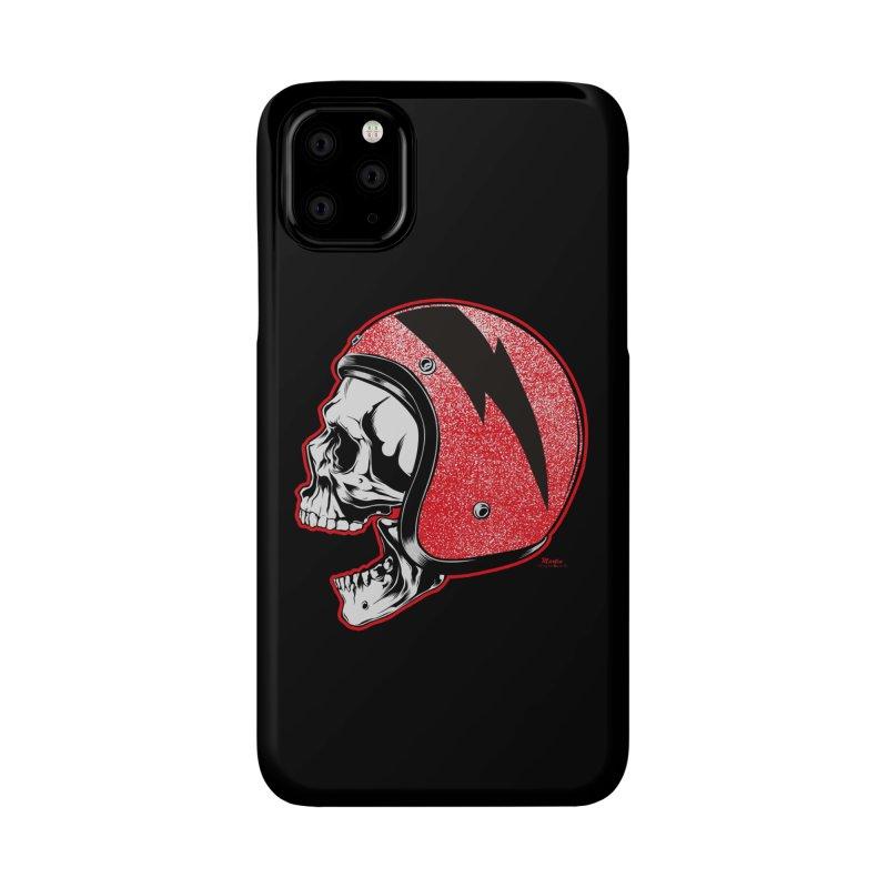 Helmet Skull Accessories Phone Case by EngineHouse13's Artist Shop