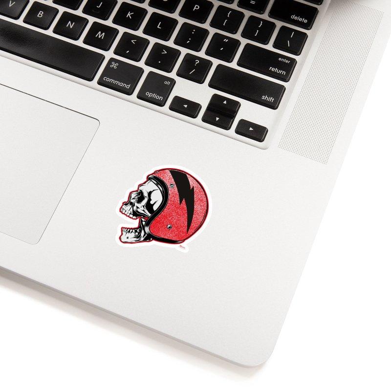 Helmet Skull Accessories Sticker by EngineHouse13's Artist Shop