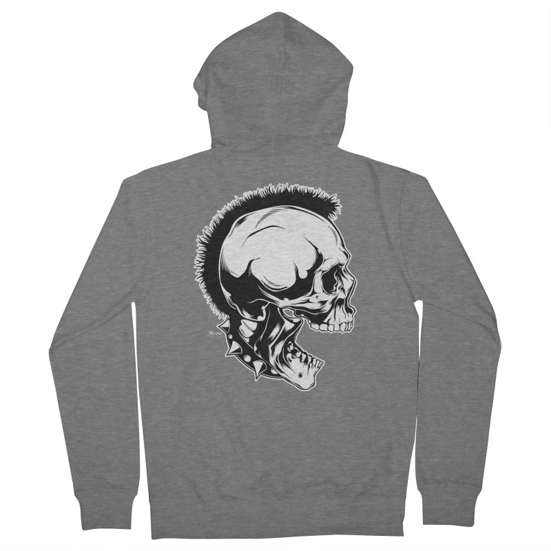 Punk! Women's French Terry Zip-Up Hoody by EngineHouse13's Artist Shop