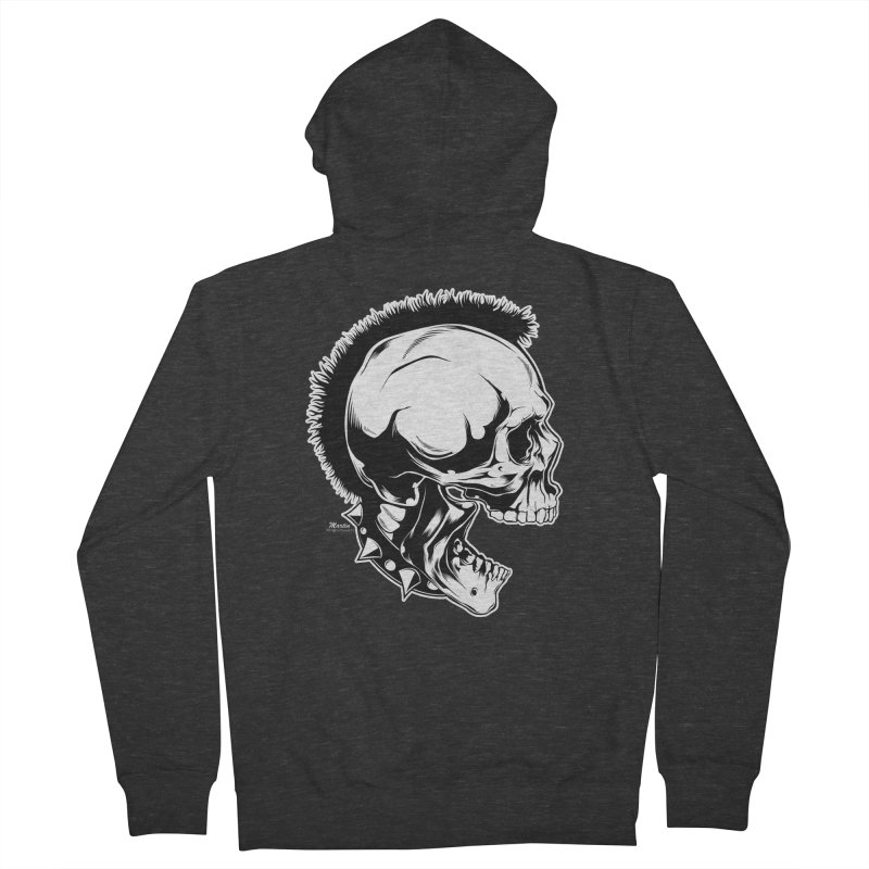 Punk! Men's French Terry Zip-Up Hoody by EngineHouse13's Artist Shop