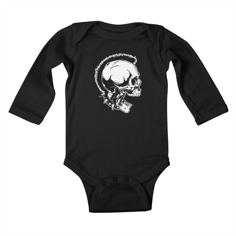 Punk! Kids Baby Longsleeve Bodysuit by EngineHouse13's Artist Shop