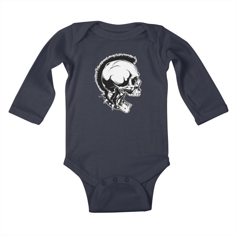 Punk! Kids Baby Longsleeve Bodysuit by EngineHouse13's Artist Shop