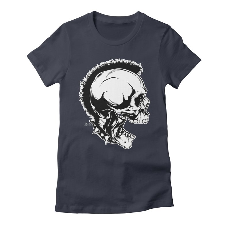 Punk! Women's Fitted T-Shirt by EngineHouse13's Artist Shop