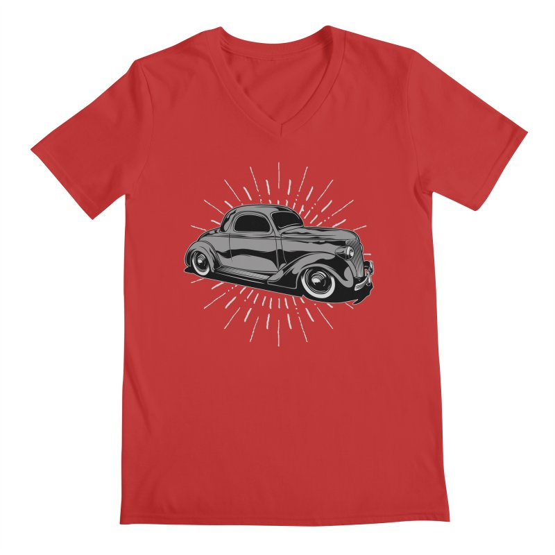 38 Ford Men's V-Neck by EngineHouse13's Artist Shop