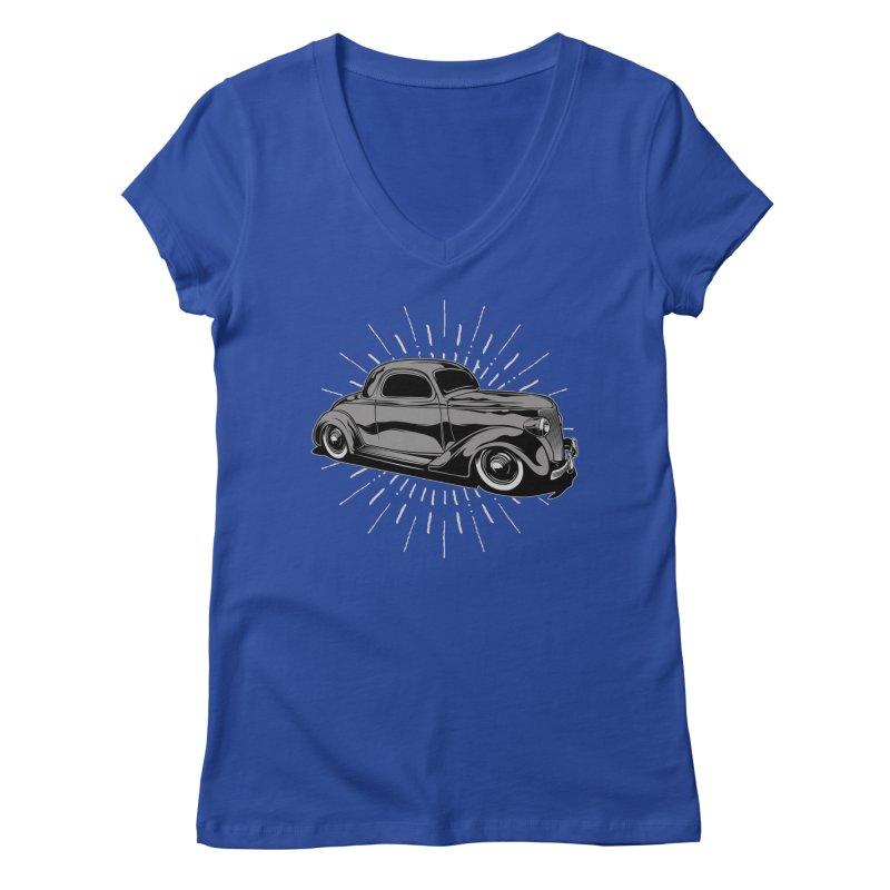 38 Ford Women's V-Neck by EngineHouse13's Artist Shop
