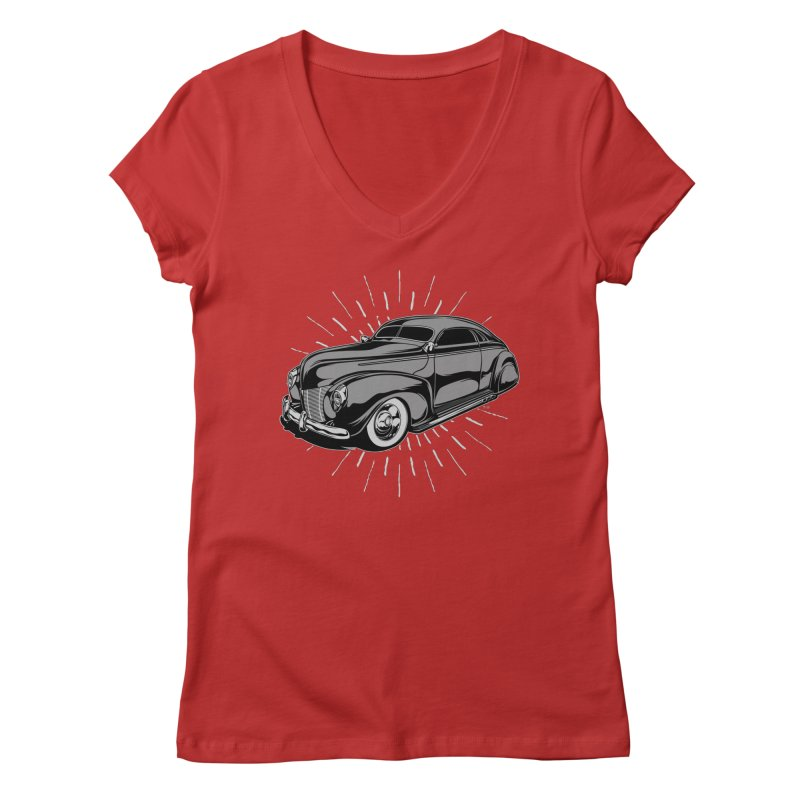 40 Sled Women's V-Neck by EngineHouse13's Artist Shop