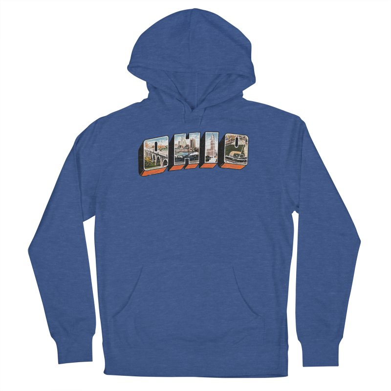 Greetings From Ohio Men's French Terry Pullover Hoody by EngineHouse13's Artist Shop