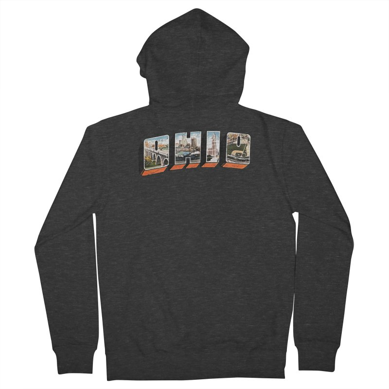 Greetings From Ohio Women's Zip-Up Hoody by EngineHouse13's Artist Shop