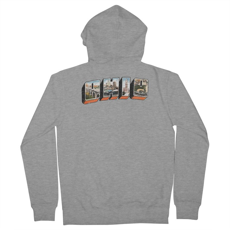 Greetings From Ohio Women's French Terry Zip-Up Hoody by EngineHouse13's Artist Shop