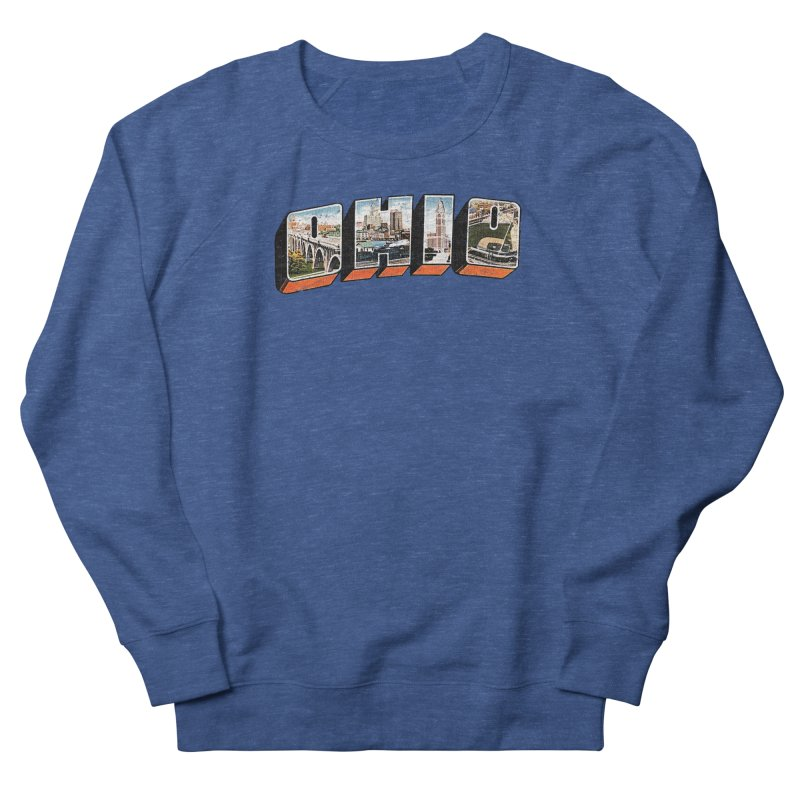 Greetings From Ohio Men's French Terry Sweatshirt by EngineHouse13's Artist Shop