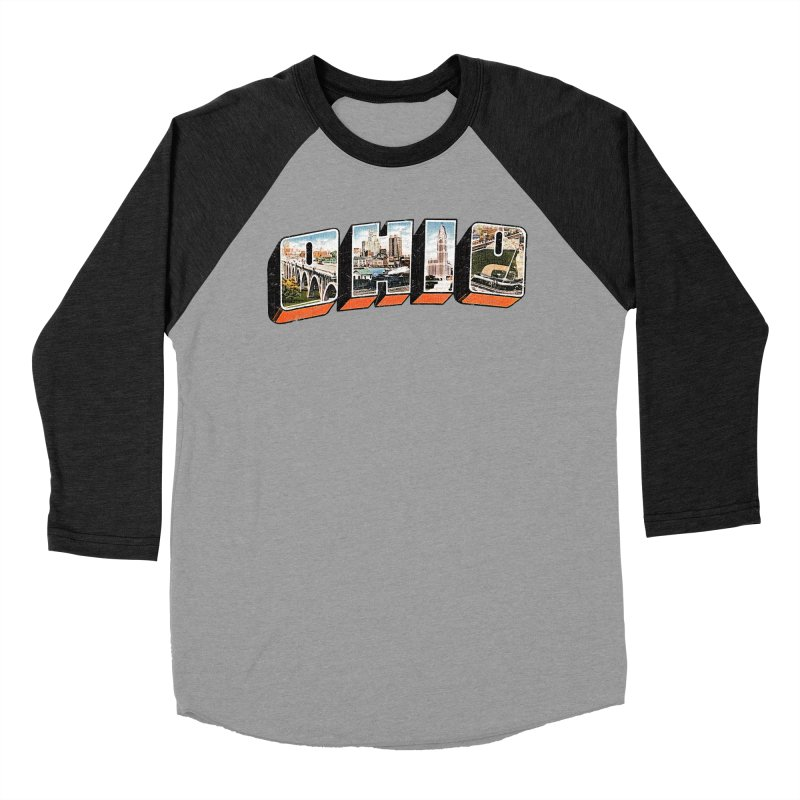 Greetings From Ohio Women's Baseball Triblend Longsleeve T-Shirt by EngineHouse13's Artist Shop