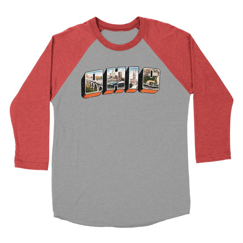 Greetings From Ohio Men's Baseball Triblend T-Shirt by EngineHouse13's Artist Shop