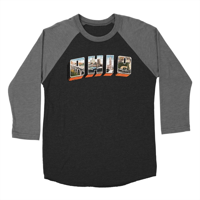Greetings From Ohio Men's Baseball Triblend Longsleeve T-Shirt by EngineHouse13's Artist Shop