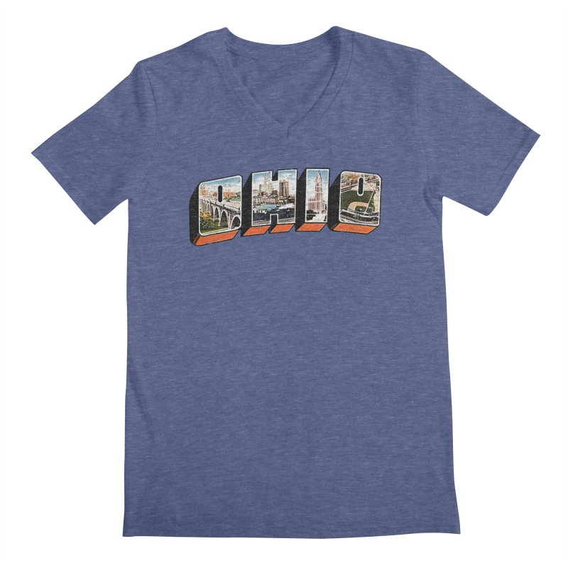 Greetings From Ohio Men's V-Neck by EngineHouse13's Artist Shop