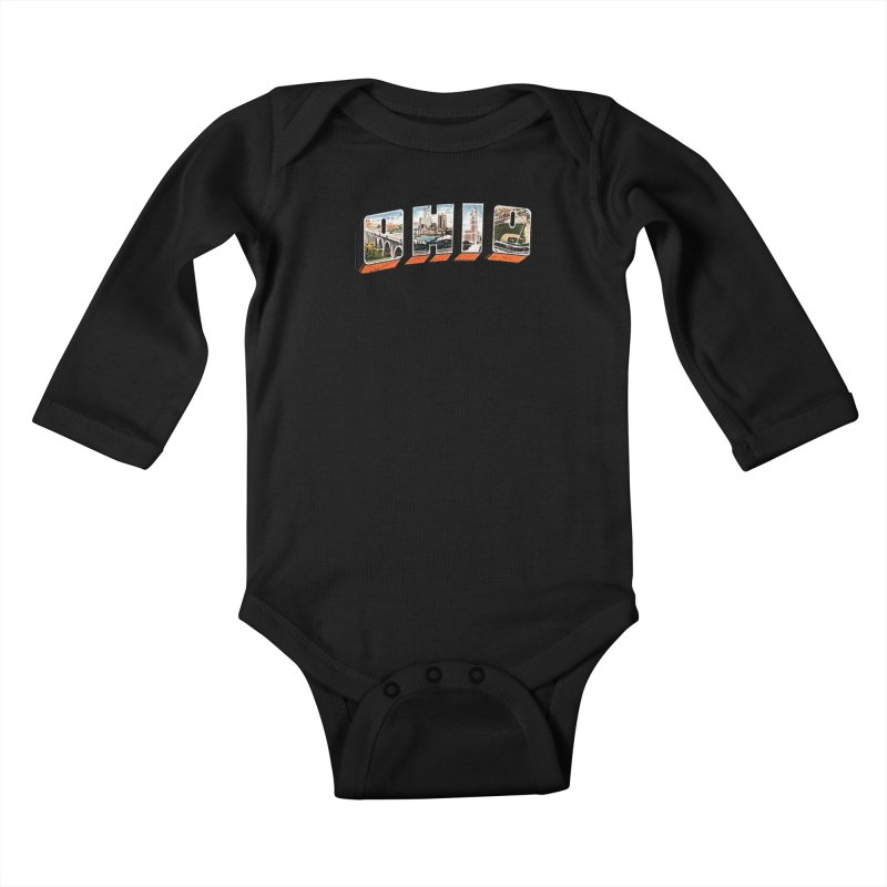 Greetings From Ohio Kids Baby Longsleeve Bodysuit by EngineHouse13's Artist Shop
