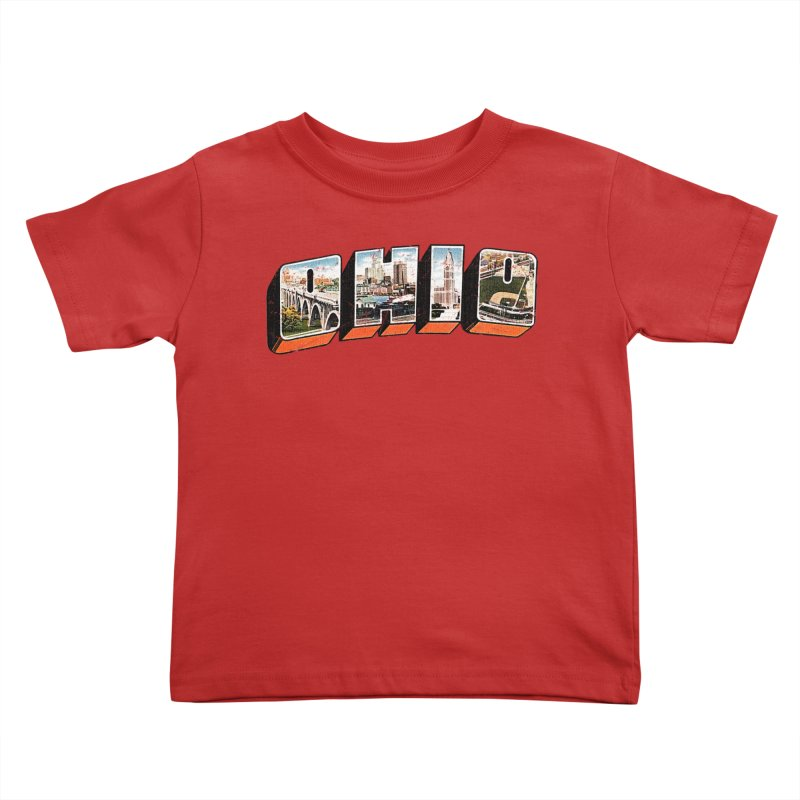 Greetings From Ohio Kids Toddler T-Shirt by EngineHouse13's Artist Shop