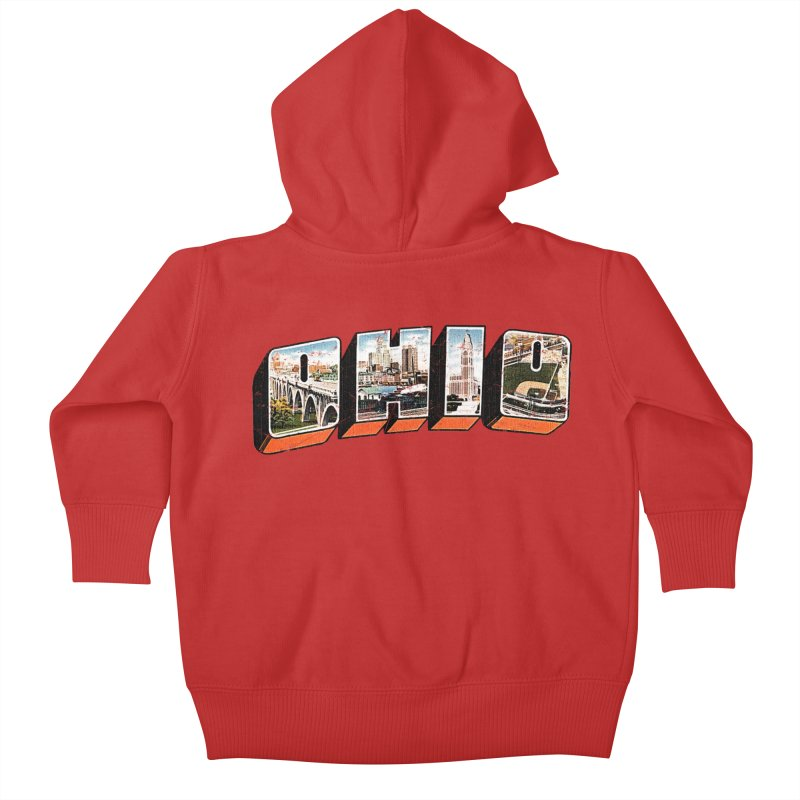 Greetings From Ohio Kids Baby Zip-Up Hoody by EngineHouse13's Artist Shop