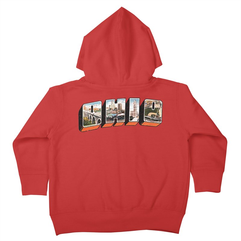 Greetings From Ohio Kids Toddler Zip-Up Hoody by EngineHouse13's Artist Shop