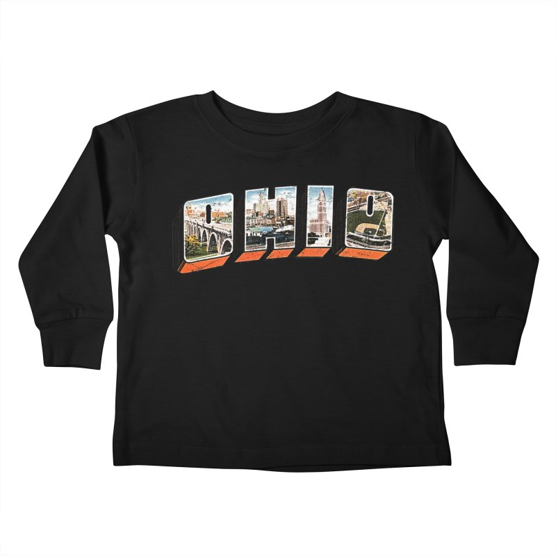 Greetings From Ohio Kids Toddler Longsleeve T-Shirt by EngineHouse13's Artist Shop