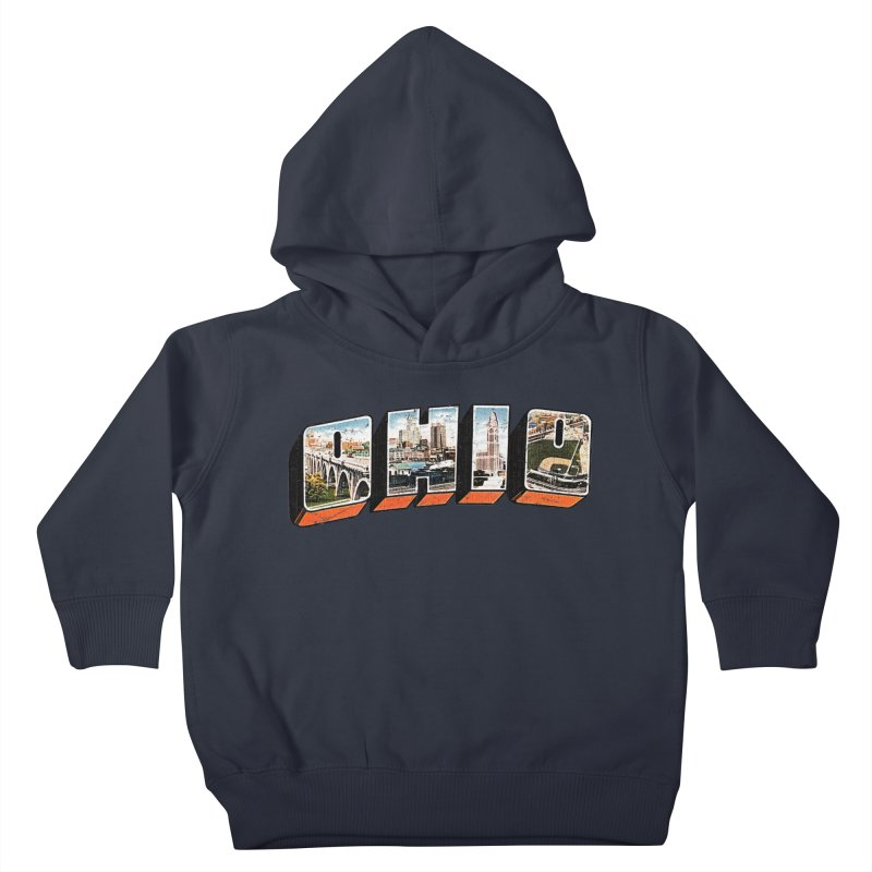 Greetings From Ohio Kids Toddler Pullover Hoody by EngineHouse13's Artist Shop