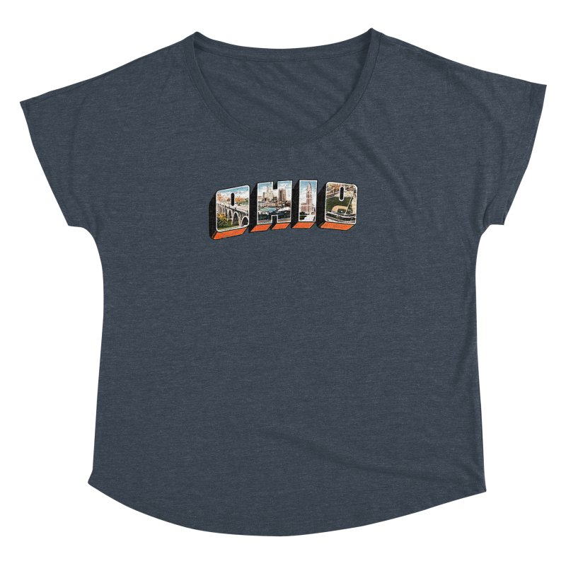 Greetings From Ohio Women's Dolman Scoop Neck by EngineHouse13's Artist Shop