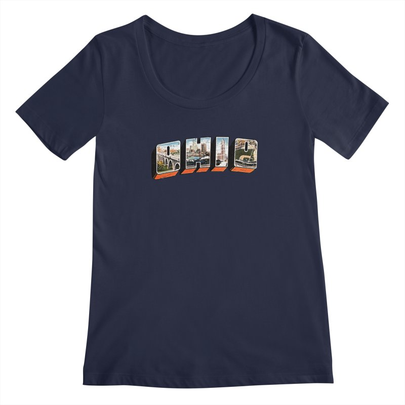 Greetings From Ohio Women's Scoopneck by EngineHouse13's Artist Shop
