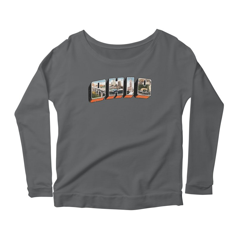 Greetings From Ohio Women's Scoop Neck Longsleeve T-Shirt by EngineHouse13's Artist Shop