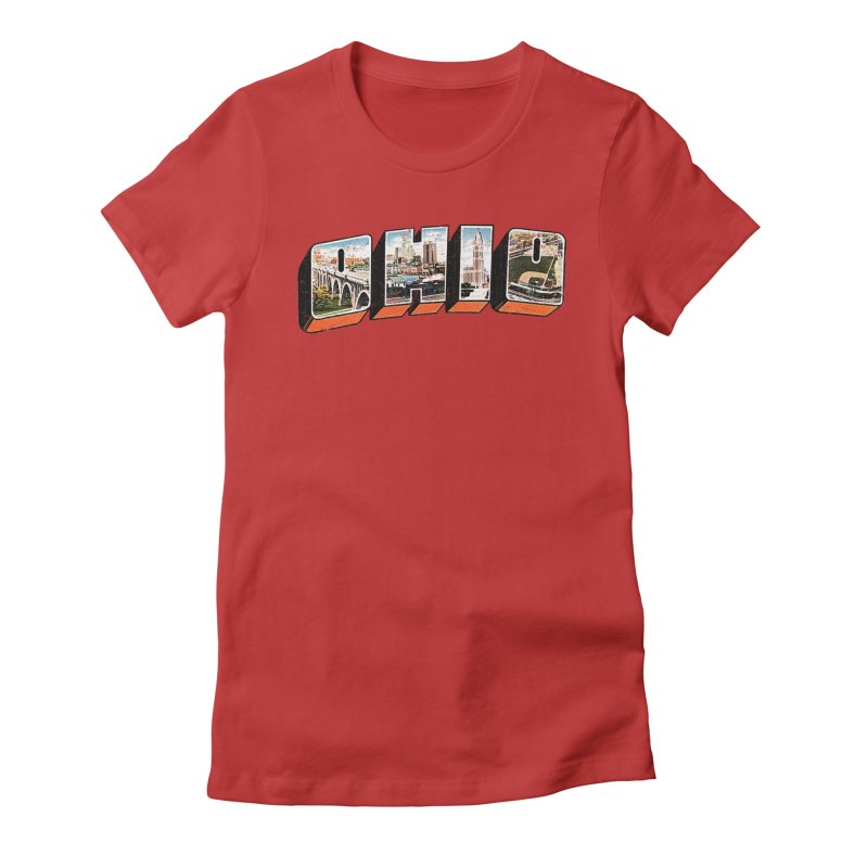 Greetings From Ohio Women's Fitted T-Shirt by EngineHouse13's Artist Shop