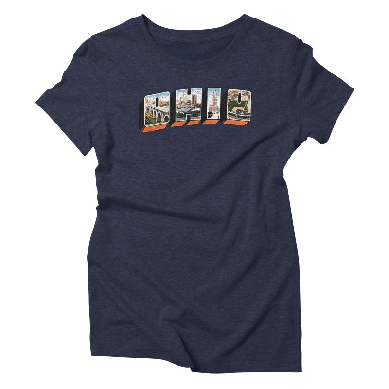Greetings From Ohio Women's T-Shirt by EngineHouse13's Artist Shop