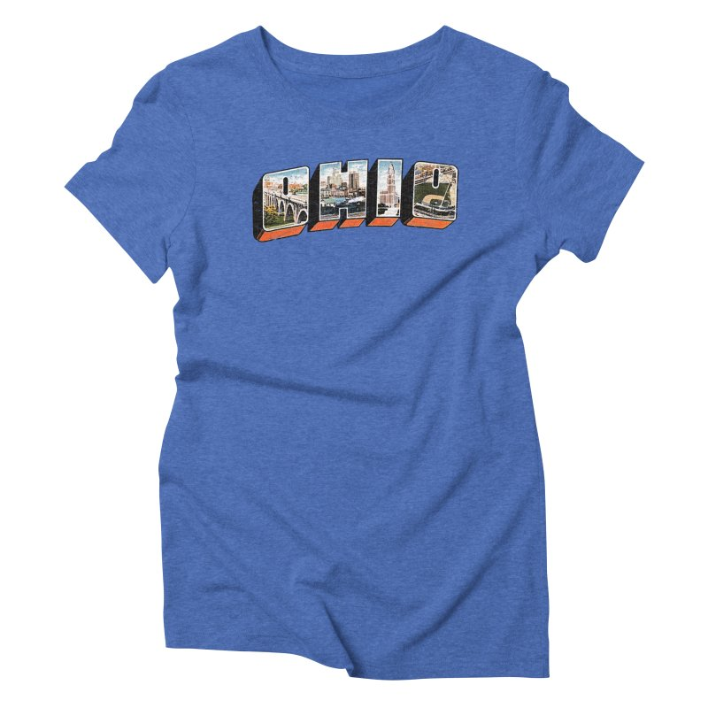 Greetings From Ohio Women's Triblend T-Shirt by EngineHouse13's Artist Shop
