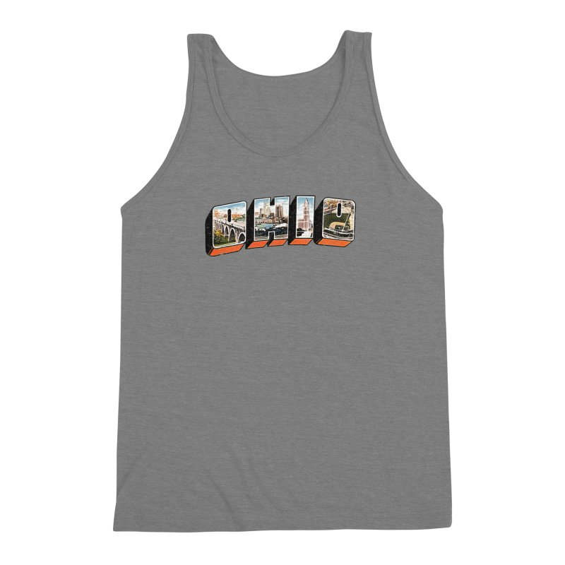 Greetings From Ohio Men's Triblend Tank by EngineHouse13's Artist Shop