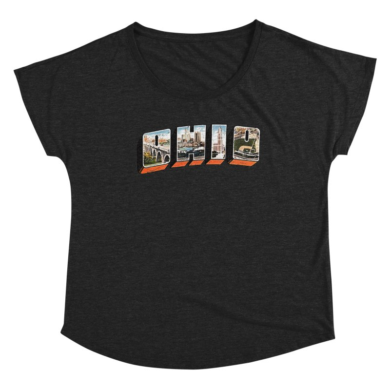 Greetings From Ohio Women's Scoop Neck by EngineHouse13's Artist Shop