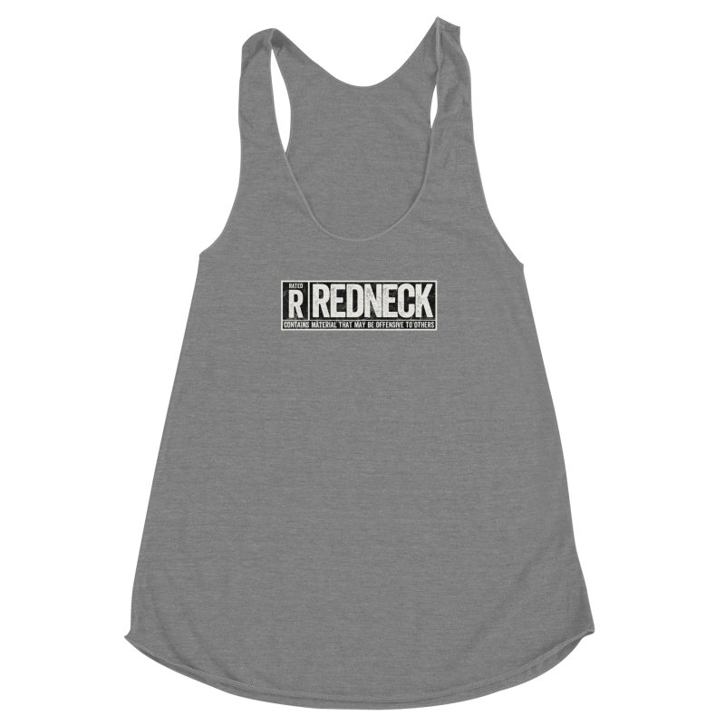 Rated R Women's Racerback Triblend Tank by EngineHouse13's Artist Shop