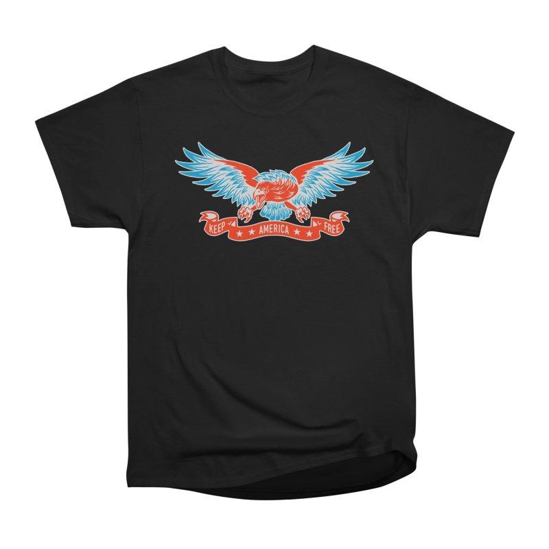 Keep America Free Men's Heavyweight T-Shirt by EngineHouse13's Artist Shop
