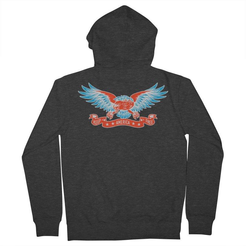 Keep America Free Men's Zip-Up Hoody by EngineHouse13's Artist Shop