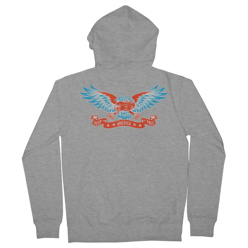 Keep America Free Men's French Terry Zip-Up Hoody by EngineHouse13's Artist Shop