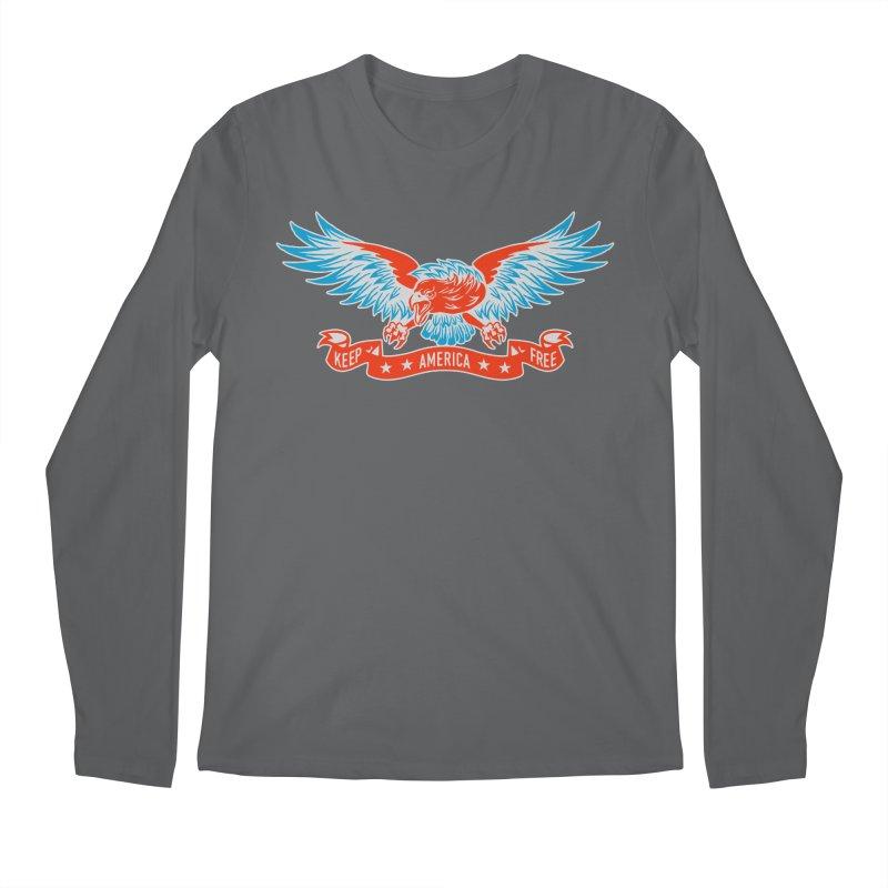 Keep America Free Men's Regular Longsleeve T-Shirt by EngineHouse13's Artist Shop