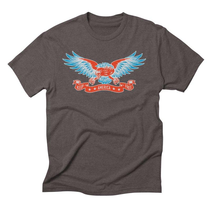 Keep America Free Men's Triblend T-Shirt by EngineHouse13's Artist Shop