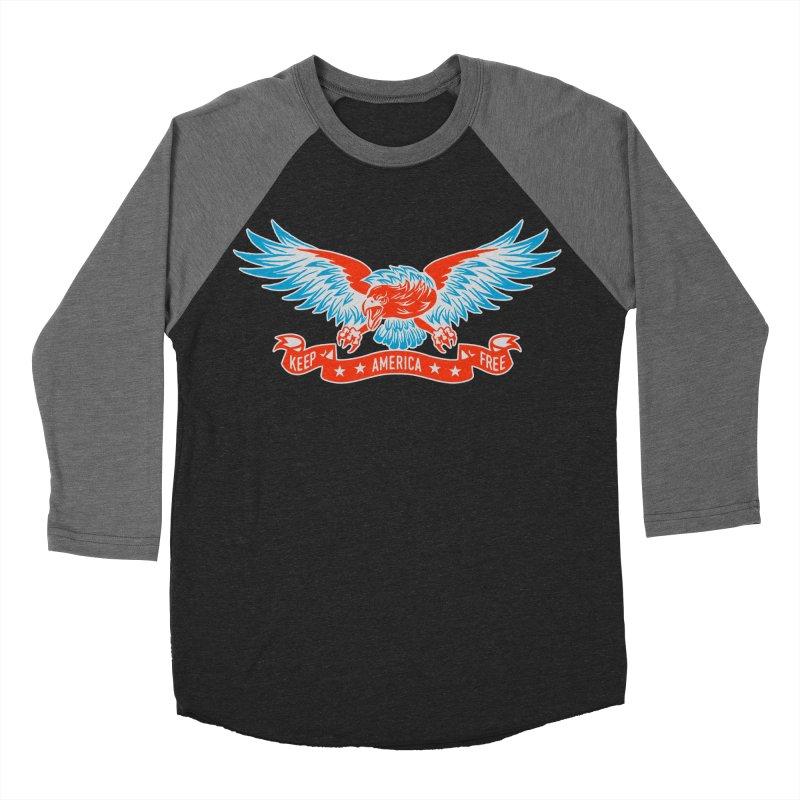 Keep America Free Men's Baseball Triblend T-Shirt by EngineHouse13's Artist Shop