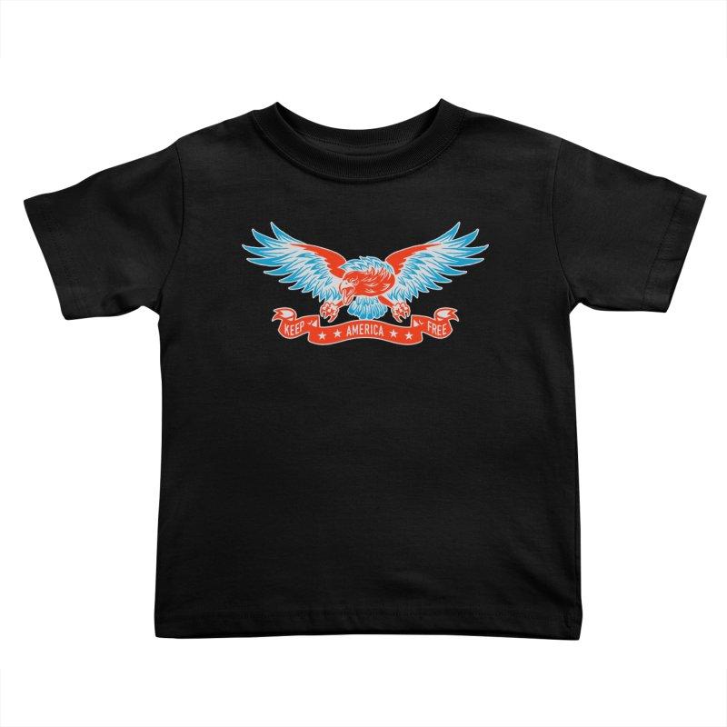 Keep America Free Kids Toddler T-Shirt by EngineHouse13's Artist Shop
