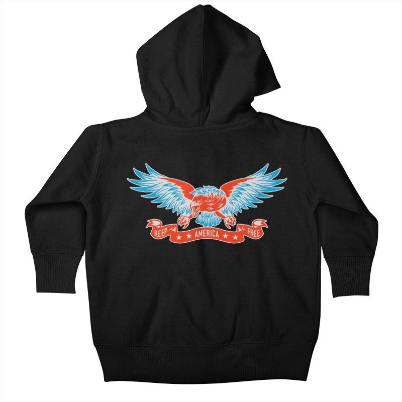 Keep America Free Kids Baby Zip-Up Hoody by EngineHouse13's Artist Shop