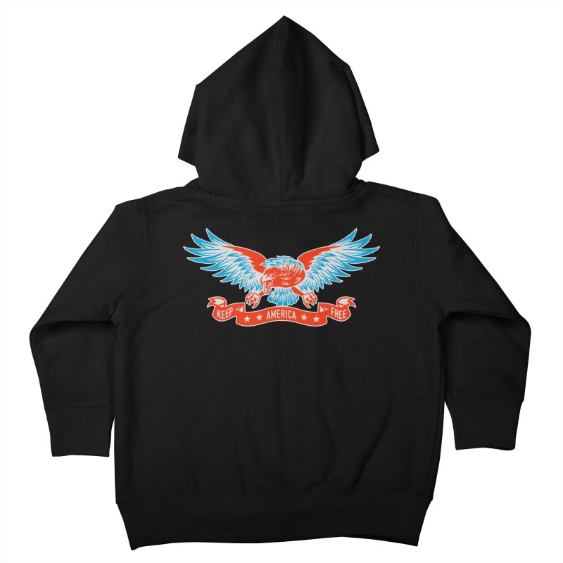 Keep America Free Kids Toddler Zip-Up Hoody by EngineHouse13's Artist Shop