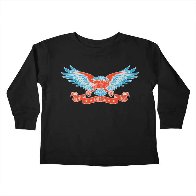 Keep America Free Kids Toddler Longsleeve T-Shirt by EngineHouse13's Artist Shop