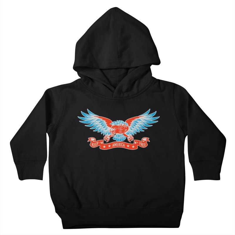 Keep America Free Kids Toddler Pullover Hoody by EngineHouse13's Artist Shop