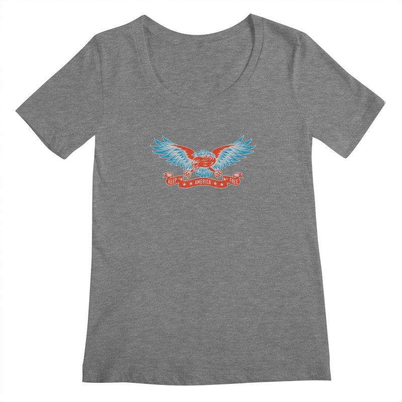 Keep America Free Women's Scoopneck by EngineHouse13's Artist Shop