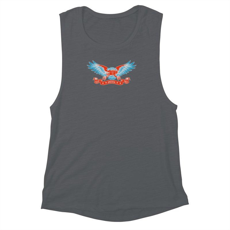 Keep America Free Women's Muscle Tank by EngineHouse13's Artist Shop