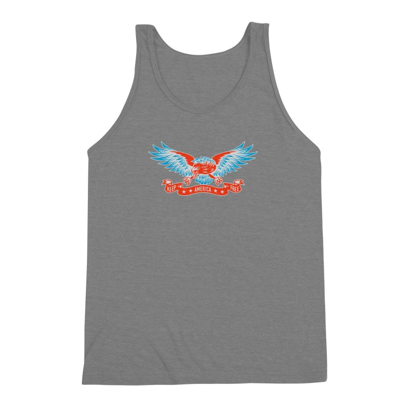 Keep America Free Men's Triblend Tank by EngineHouse13's Artist Shop